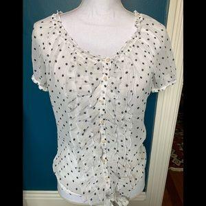 (3 for $20) Hollister polka dot blouse M